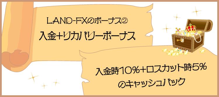 LAND-FXの10%入金+5%リカバリーボーナスの詳細のアイキャッチ画像